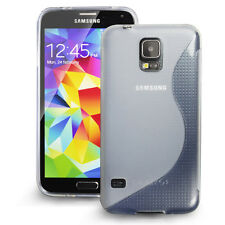[Extreme Protection] Durable S Type TPU Case for Samsung Galaxy S5 SV, Clear