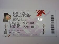 Ticket NORWAY - ICELAND 2013 Qualifications World Cup 2014 Brazil Norge Island