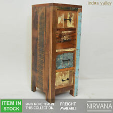 Nirvana Recycled Reclaimed boat Timber wood dresser chest of 4 drawers tallboy