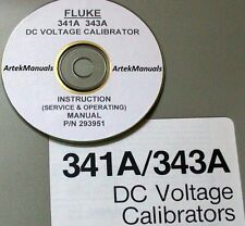 FLUKE 341A 343A DC Voltage Calibrator: Manual (Operating+Service+Schematics)