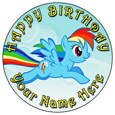 "My Little Pony Rainbow Dash - 7.5 ""Personalizadas Comestibles Glaseado Cake Topper"