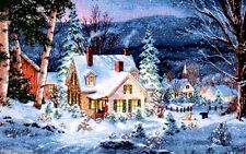 "Dimensions Gold Counted Cross Stitch kit 16"" x 10"" ~ WINTER'S HUSH #70-08862"