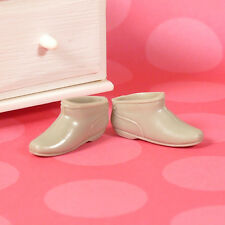 Vintage Barbie Grey Gray Ankle Boots Go Go Boot Sung Fuzz 1813 JAPAN 1968 EXCLNT