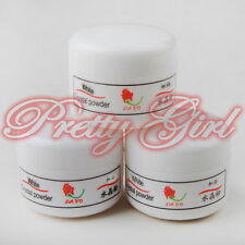 3 pc Pro Nail White Acrylic Powder Base Kit Liquid Art Tips UV Gel Dust UK Set