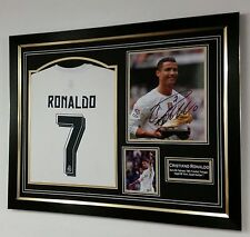* NEW Cristiano Ronaldo of Real Madrid Signed Photo & Shirt Autograph Display *