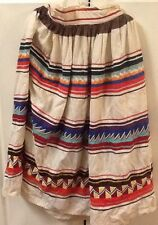 Vtg. Seminole Patchwork Skirt - (3) Rows Patchwork - c1980's -