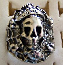 WEB_WITH_A_SCULL ~ S/STEEL ~ SIZE:7.5 ~  RING -- (GREAT_CHRISTMAS_GIFT)