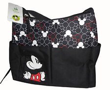 Disney Mickey Mouse Baby Nappy Bottle Diaper Travel Beach Tote Bag Black Unisex