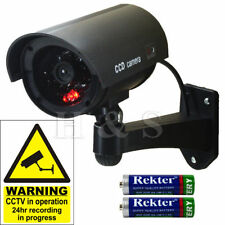 High Quality Fake Dummy CCTV Security Camera Flashing LED Indoor Outdoor Black
