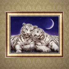 DIY 5D Diamond Painting Two Tigers Cross Stitch Rhinestone Embroidery Home Decor