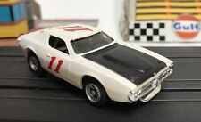 Aurora AFX Dodge Charger Stock Car White #11 HO Slot Car New Silicone Tires Tyco
