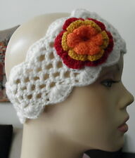 New Made In Peru Alpaca Wool Blended Flower Button Knitted Headband #03079