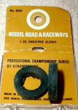 "1 Pr 1960 Strombecker Slot Car Vintage Cheater Slicks 1"" X 3/16"" NOS #8350 Boxed"