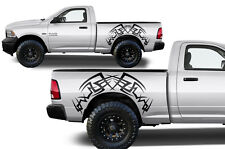 Vinyl Decal Tribal Wrap Kit for Dodge Ram Truck 09-14 1500/2500/3500 Matte Black