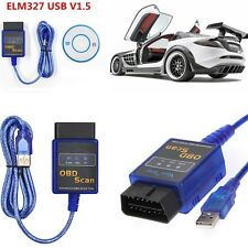 ELM327 V1.5 CAN OBD2 OBDII Car Diagnostic Scanner  Code Reader LR25  USB Version