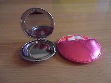 Silver Compact Mirror & Case
