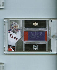 HENRIK LUNDQVIST 2006-07 UD The Cup SCRIPTED SWATCHES AUTO/PATCH SP/25 RANGERS