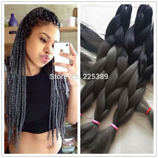 "1PC Black Grey ombre braiding hair 24"" Kanekalon Synthetic African Box Braiding"