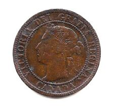 1893 Canada Large Cent--Dark Chocolate with Strong Hair & Crown  Details !!