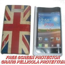 Pellicola+custodia BACK COVER UK FLAG VINTAGE per LG Optimus L7 P700