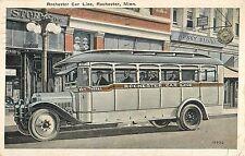 1926 Rochester Car Line Bus - Rochester, Minnesota Postcard