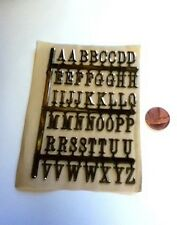 3D Adhesive Backed Gold Letters, Doll House Miniatures, Ideal For House Names
