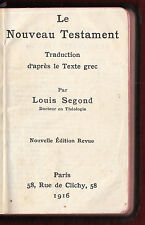 1916 Le Nouveau Testament New Testament Louis Segond French Bible Pocket WWI