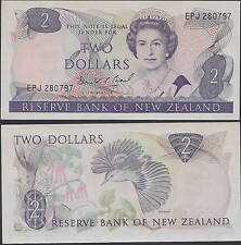 New Zealand 2 Dollars ND(1981-1992) P170c UNC