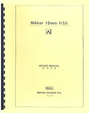Nikon Nikkor 15mm F3.5 Ai Lens Repair Manual