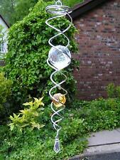 RRP £21.99 - Iron Stop 34cm SILVER AMBER CRYSTAL TWISTER Hook Garden