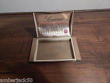 VINTAGE 1940'S LONGINES BRASS WATCH BOX INTERNATIONAL SALE