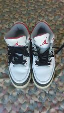 Nike Air Jordan 3 Retro White-Fire Red-Grey 2006 Release 136064-161 Size 12 Nike