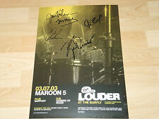 MAROON 5 SIGNED POSTER