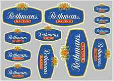 ROTHMANS RACING STICKER SET - SHEET OF 12 STICKERS - DECALS