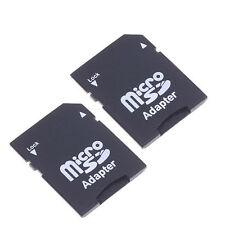 2X Micro SD TransFlash TF to SD SDHC Memory Card Adapter SD Card Converter Fine