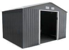 Metal Garden Shed 8 x 8 Outdoor Storage 8x8 with Free Foundation 8ft x 8ft GR