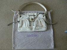 GENUINE BOTKIER UNDERARM BAG BUTTERSOFT CREAM LEATHER GOLD TRIM