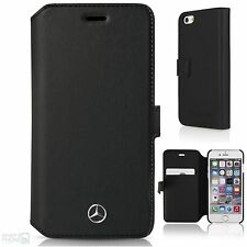 "Mercedes Echtleder iPhone 6/6s Plus 5,5"" Book Case Handytasche Schutzhülle black"