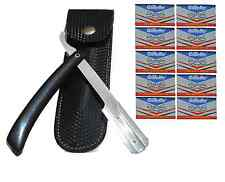 Cut Throat Salon Razor & 10 Wilkinson Sword Double Blades Traditional Shave Open