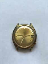 Bulova Accutron 218, 10K Rolled Gold Plate Back, For Repair Or Parts.