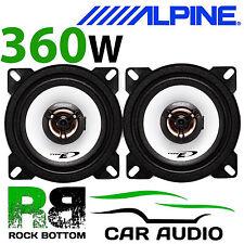 """ALPINE CHEVROLET MATIZ 99-05 4"""" 10cm 2 way 360W Car Coaxial Front Door Speakers"""