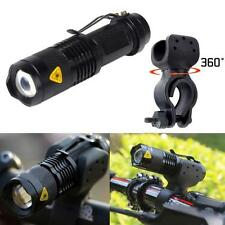 Cree Q5 1200lm LED Bicyclette Vélo Head Lampe Avant Lampe torche+360 Support