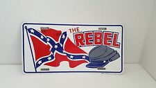 The Rebel Confederate Novelty License Plate