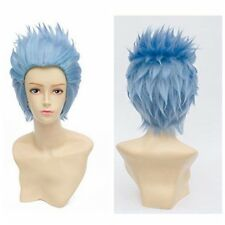 Fashion Unisex Short Spiky Blue Mixed Anime Cosplay Wigs Full Wigs Synthetic Wig
