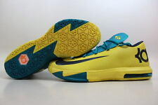 Nike KD VI 6 Sonic Yellow/Midnight Navy-Teal Kevin Durant 599424-700 SZ 13