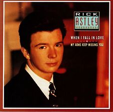 "RICK ASTLEY - WHEN I FALL IN LOVE -  7"" 45 VINYL SINGLE Picture Sleeve Australia"