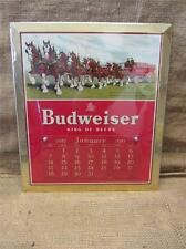 Vintage 1951 Budweiser Beer Calendar Sign   Antique Old Brewery Bud Light 9152