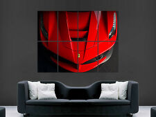 FERRARI CAR SPORT RED    ART HUGE  LARGE PICTURE POSTER GIANT