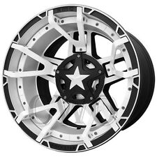 4-XD827 Rockstar 3 17x9 6x135/6x139.7 -12 Black/Machined/White Split Wheels Rims