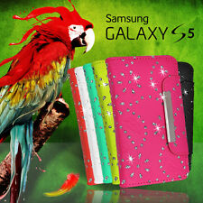 Glitter Wallet Flip Leather Case Cover For Samsung Galaxy S5 S V +SG BLING Fancy